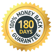 100% money back within 180 days
